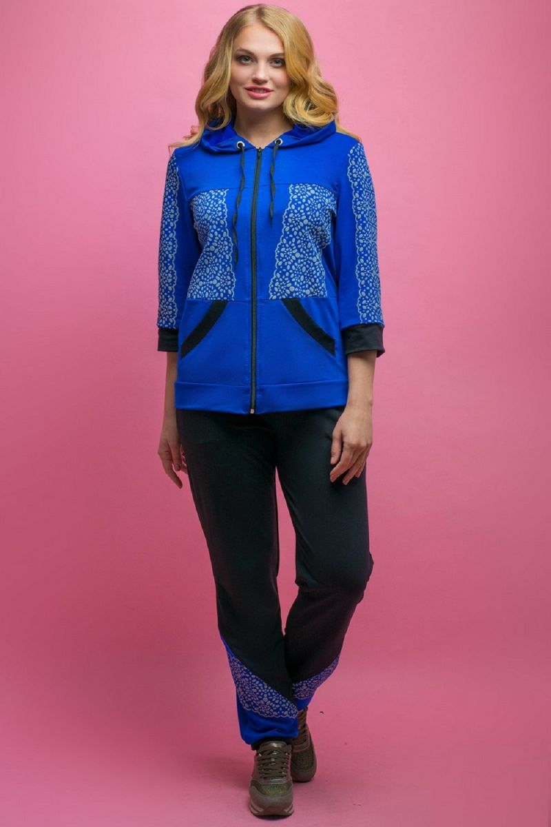 Спортивный костюм Кэри электрик 00-1087 - Victorya-Shop.com