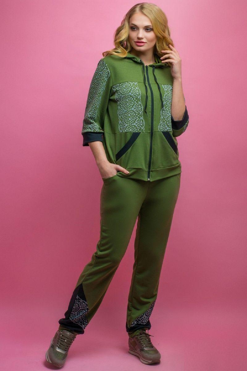 Спортивный костюм Кэри хаки 00-1089 - Victorya-Shop.com