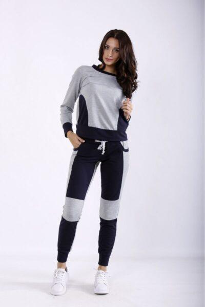 Спортивный костюм с синим 00-133695 - Victorya-Shop.com