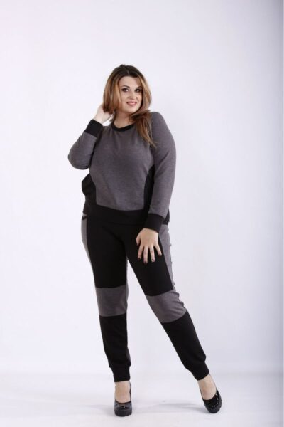 Спортивный костюм с темно-серый  00-133697 - Victorya-Shop.com