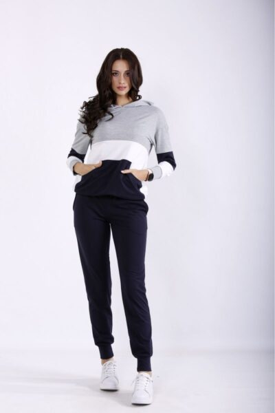 Спортивный костюм с темно-синий  00-133698 - Victorya-Shop.com