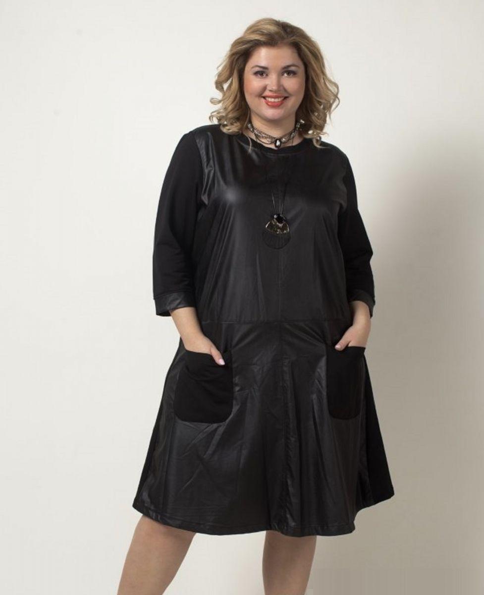 Стильное платье большого размера 000-375 - Victorya-Shop.com