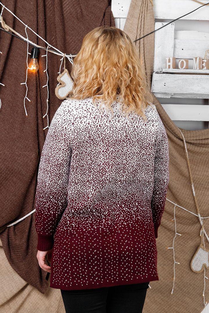 Свитер  большого размера Снег горло 00-133387 - Victorya-Shop.com
