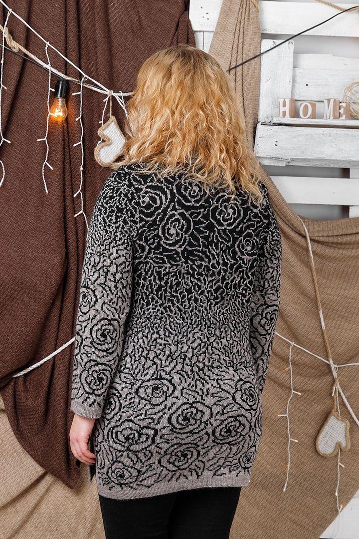 Свитер Роза большого размера 00-133380 - Victorya-Shop.com