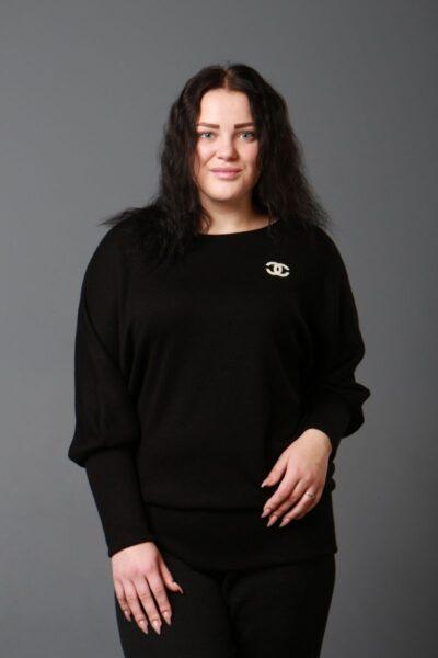 Теплая туника из качественной королевской ангоры доступно в цвете  000-582 - Victorya-Shop.com
