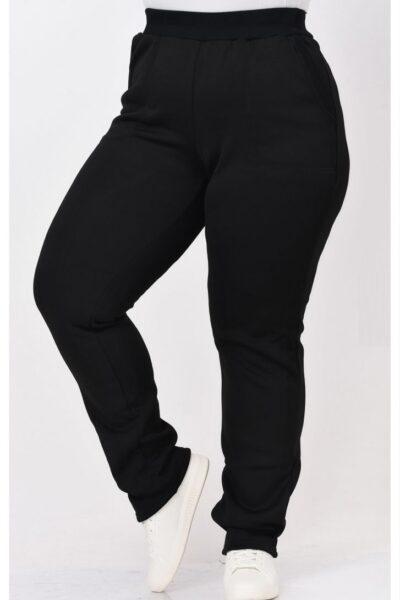 Теплые брюки большого размера трехникта на флисе 000-666 - Victorya-Shop.com