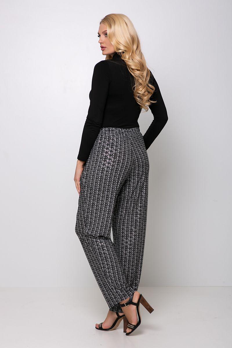 Трикотажные брюки на резинке БАРНИ черные  00-133632 - Victorya-Shop.com