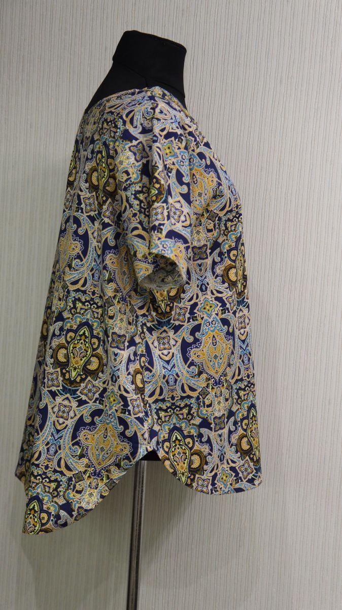 Туника большого размера из натуральной ткани доступна в цвете 000-541 - Victorya-Shop.com
