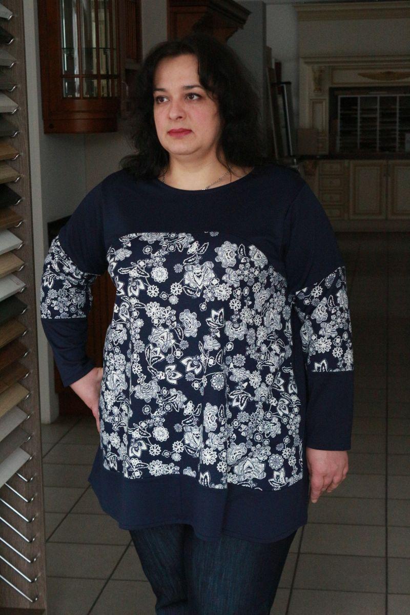 Туника большого размера трикотаж Зоряна 00-13330 - Victorya-Shop.com