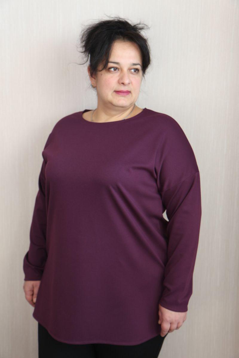 Туника большого размера Твикс фиолет доступно в цвете  000-175 - Victorya-Shop.com