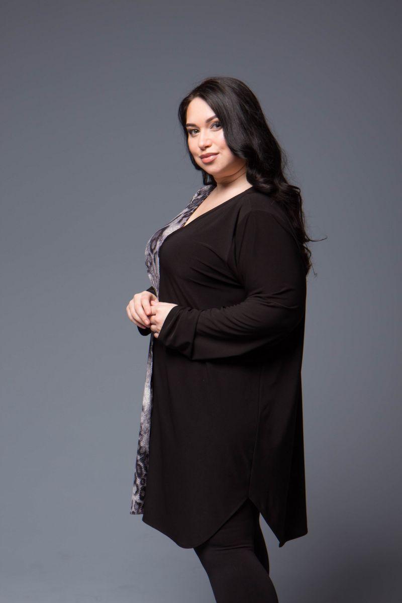 Туника большого размера в рубашечном стиле 000-694 - Victorya-Shop.com