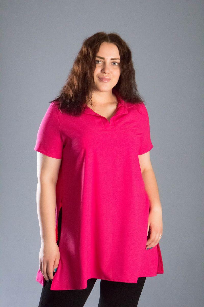 Туника большого размера в рубашечном стиле большого размера доступно в цвете 000-546 - Victorya-Shop.com