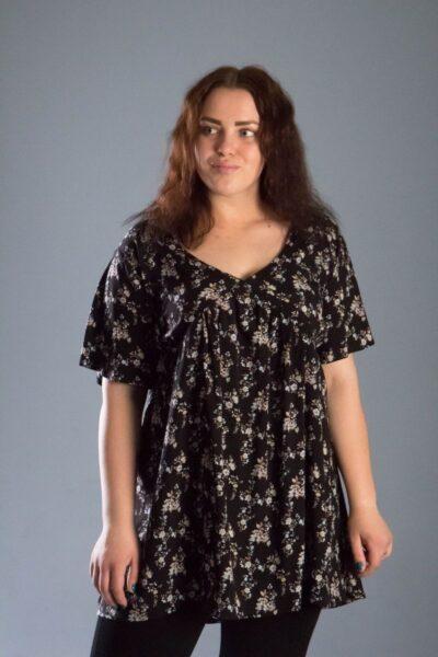 Туника из натуральной ткани большого размера доступна в цвете 000-539 - Victorya-Shop.com
