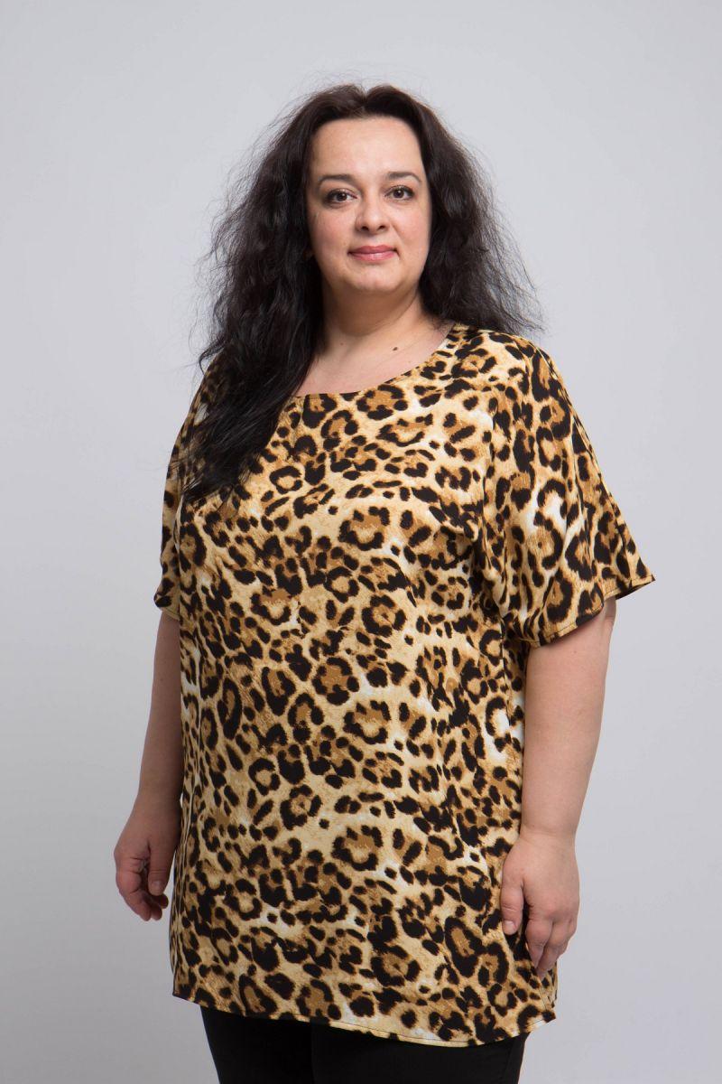 Туника летняя большого размера из натуральной ткани доступна в цвете 000-706 - Victorya-Shop.com