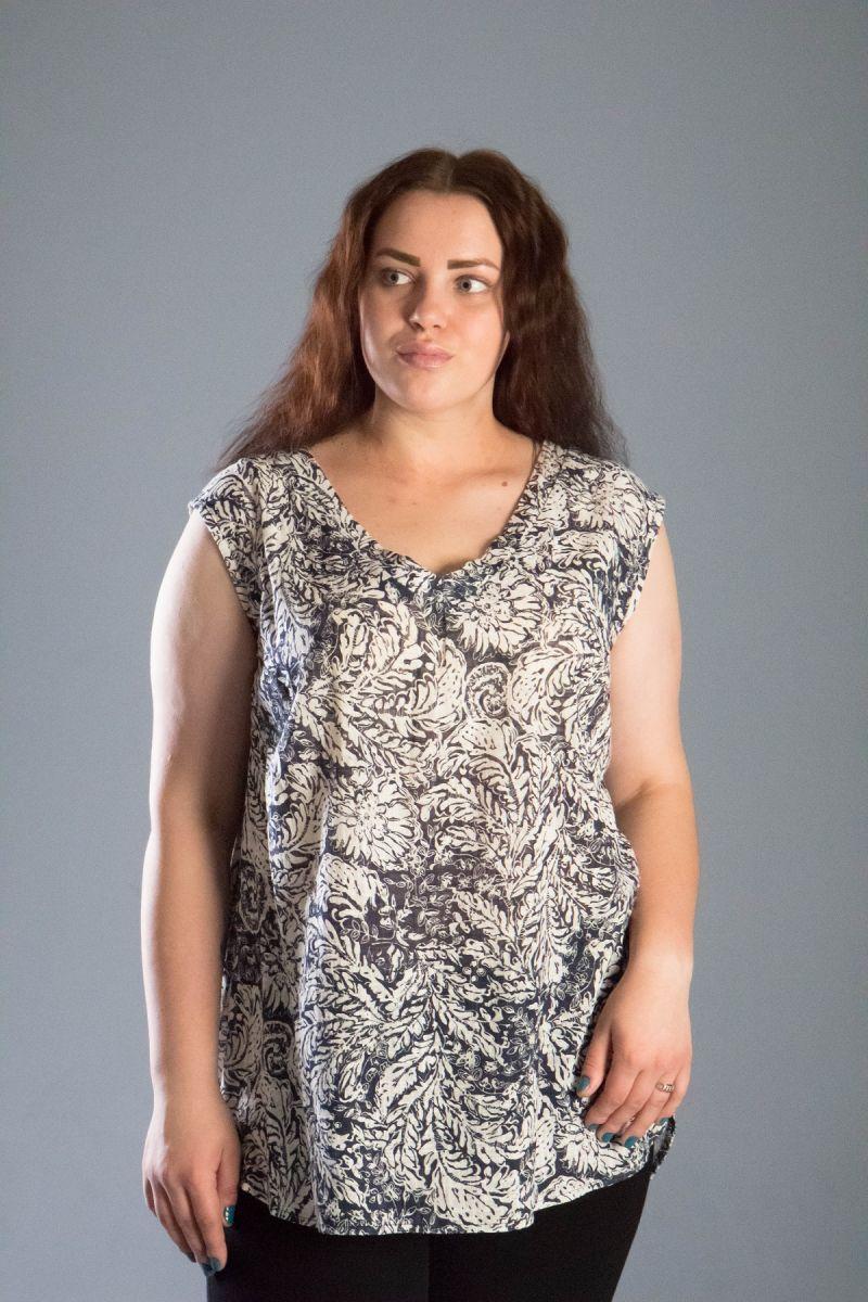 Туника летняя из натуральной ткани лен 000-519 - Victorya-Shop.com