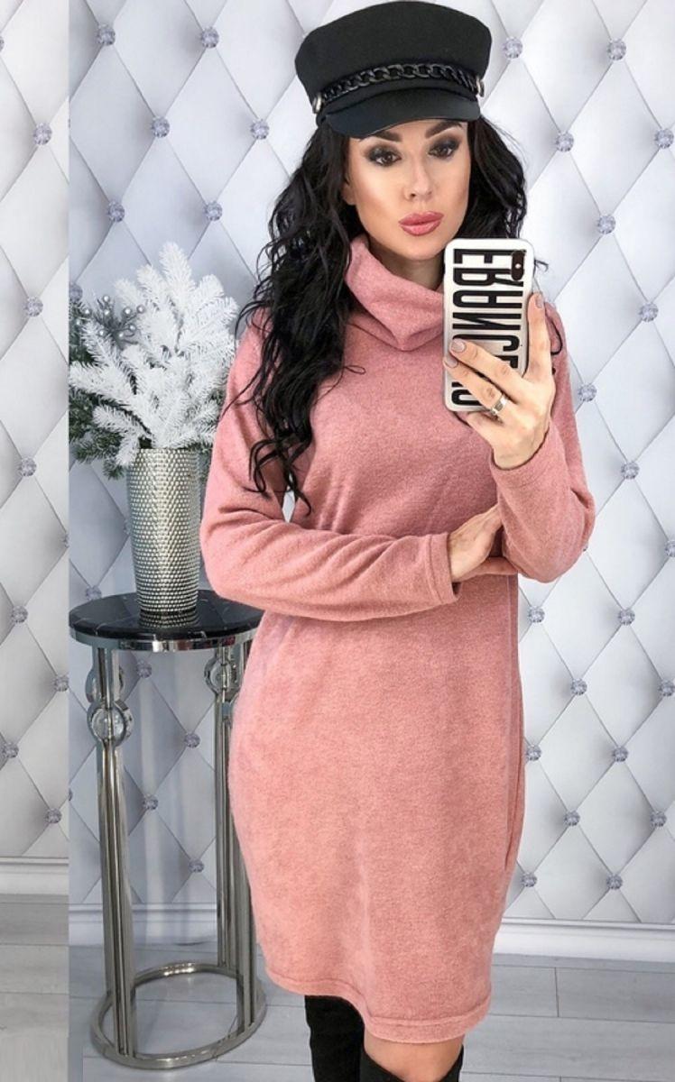 Туника-платье большого размера из ангоры арктика 000-245 - Victorya-Shop.com