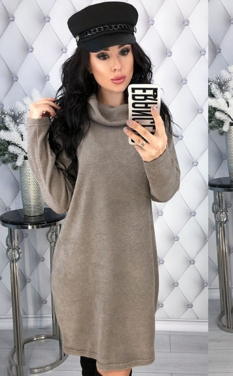 Туника-платье большого размера из ангоры арктика 000-247 - Victorya-Shop.com