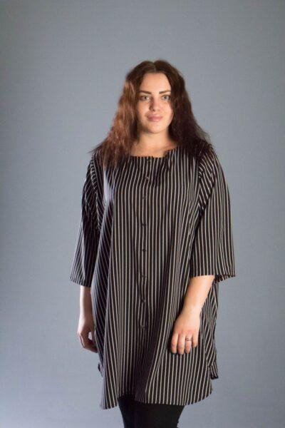 Туника рубашка большого размера 000-538 - Victorya-Shop.com