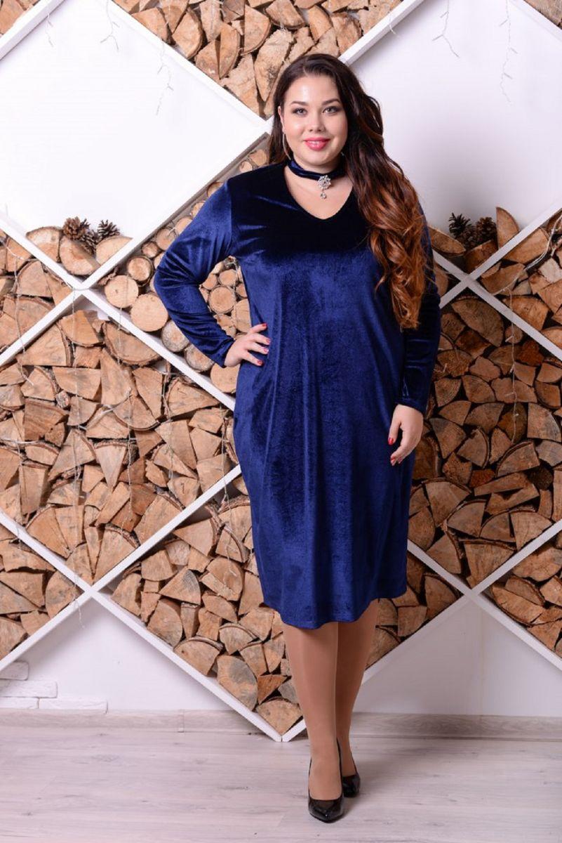 Веечернее платье БАРХАТ 00-655 - Victorya-Shop.com