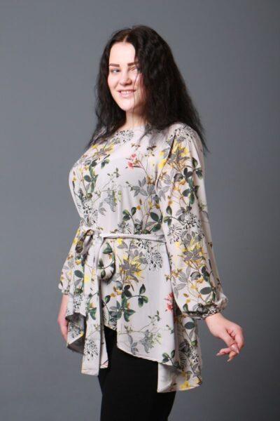 Женская туника большого размера с асимметрией 000-601 - Victorya-Shop.com