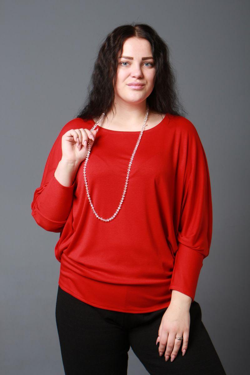 Женский джемпер большого размера с рукавами летучая мышь 000-594 - Victorya-Shop.com