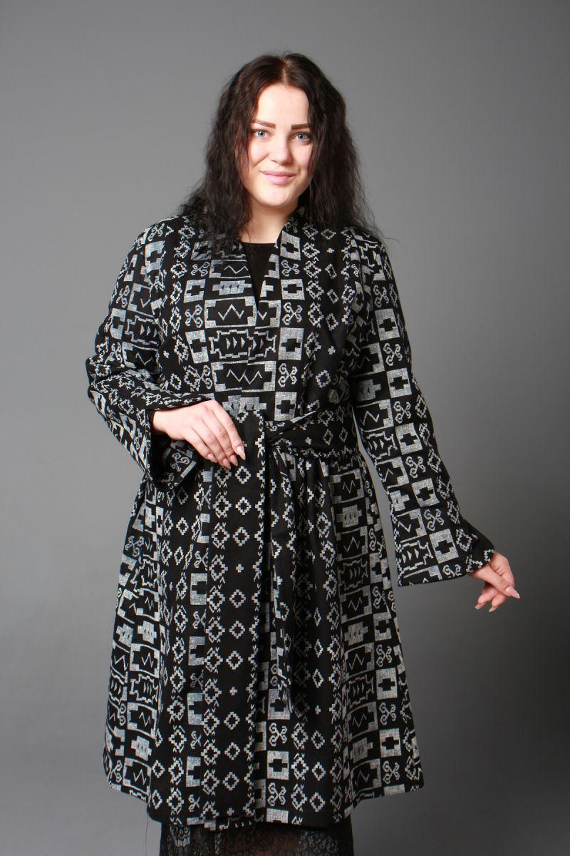 Женский тренч большого размера в английском стиле 000-602 - Victorya-Shop.com