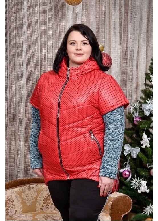 Жилет женский большого размера 00-133443 - Victorya-Shop.com